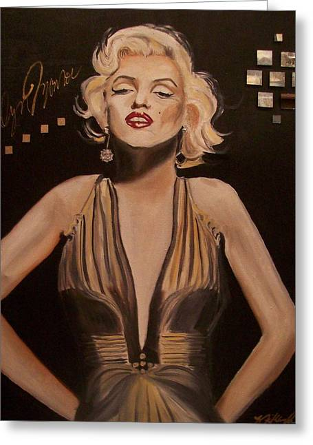 Marilyn Monroe  Greeting Card by Mikayla Ziegler