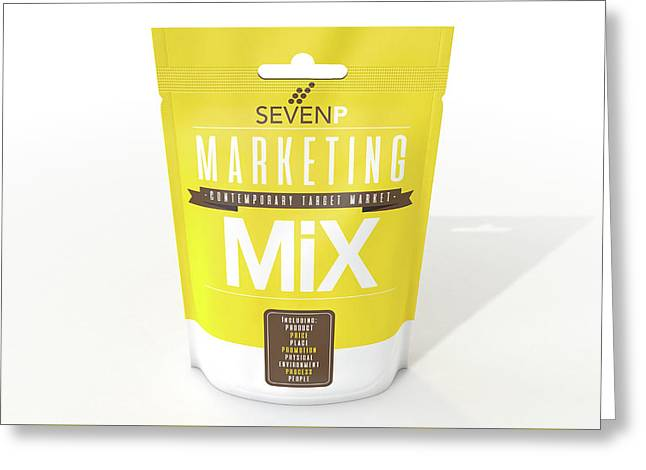 Marketing Mix 7 P's Greeting Card