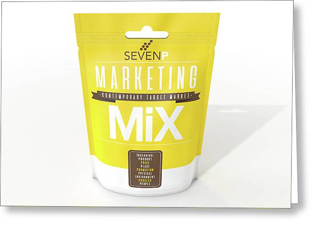 Marketing Mix 7 P's Greeting Card by Allan Swart