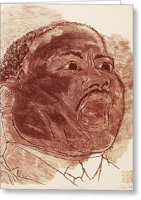 Martin Luther King, Jr Greeting Card by Granger