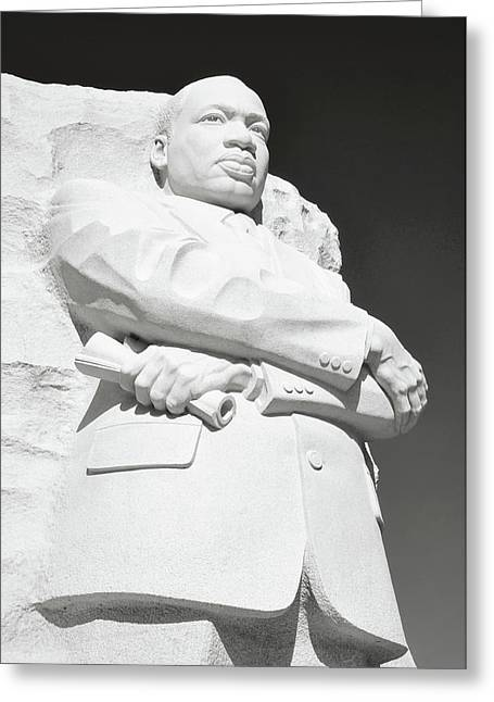 Martin Luther King Statue Monument In Washington Dc Greeting Card by Brandon Bourdages