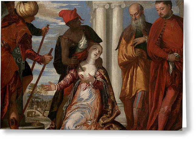 Martyrdom Of Saint Justina Greeting Card by Paolo Veronese