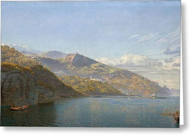 Massa, Bay Of Naples Greeting Card by John Brett