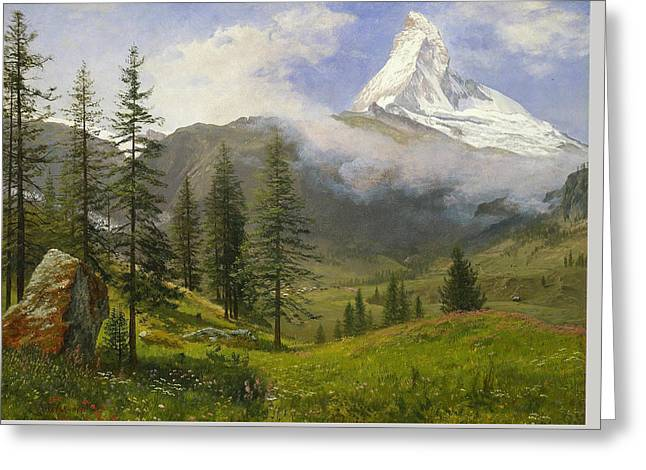 Matterhorn Greeting Card by Albert Bierstadt
