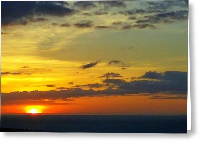 Extraordinary Maui Sunset Greeting Card