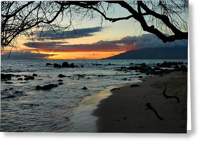 Maui Sunset Greeting Card by Stephen  Vecchiotti