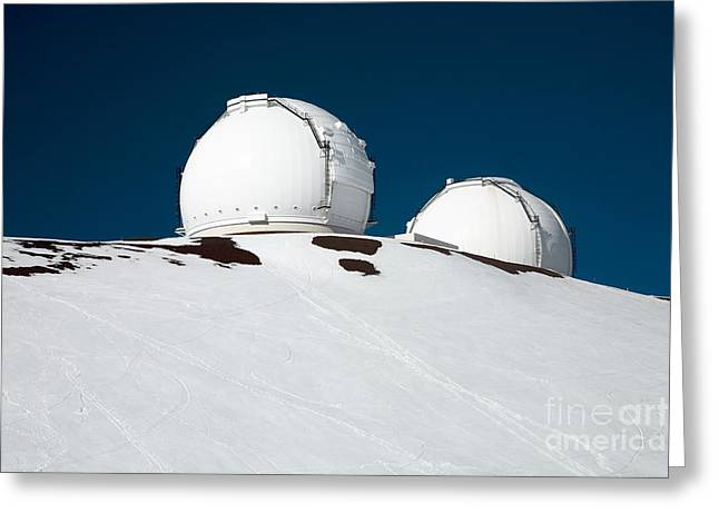Mauna Kea Observatory Greeting Card by Peter French - Printscapes