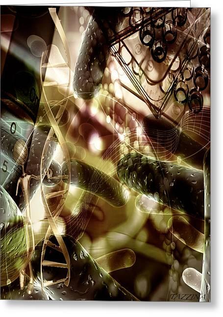 Greeting Card featuring the digital art Medils Art by Danica Radman
