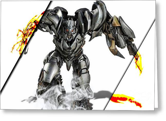 Megatron Transformers Collection Greeting Card