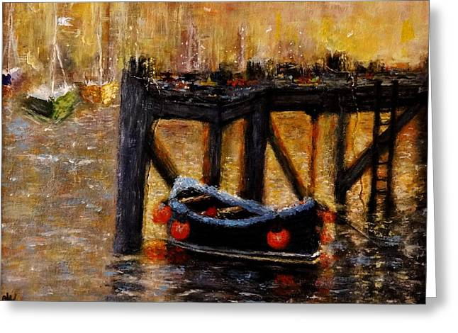Greeting Card featuring the painting Memories.. by Cristina Mihailescu