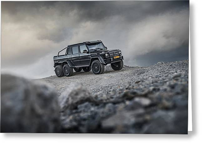 Mercedes G63 6x6 In Oman Greeting Card