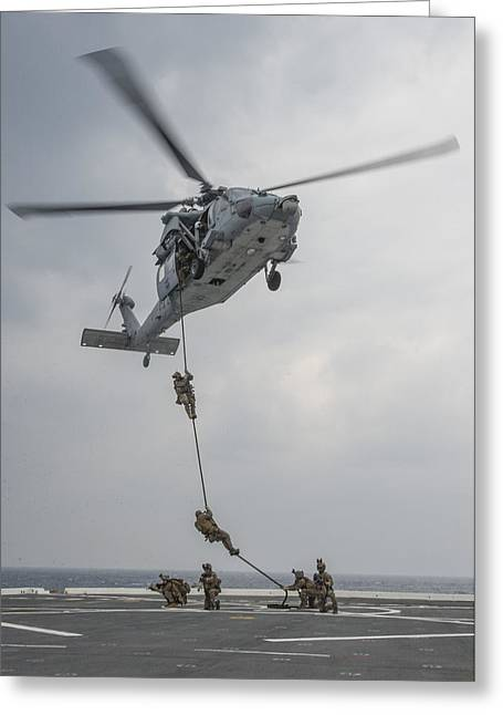 Mh-60s Sea Hawk Helicopter Us Navy Greeting Card