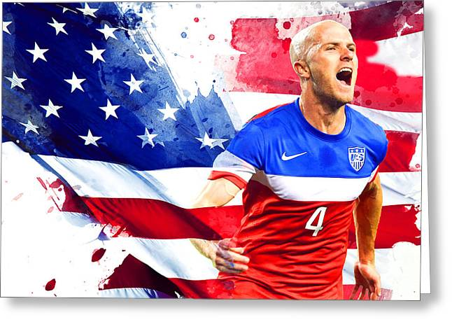 Michael Bradley Greeting Card by Semih Yurdabak