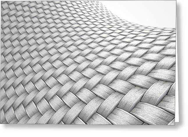 Micro Fabric Weave Clean Greeting Card by Allan Swart