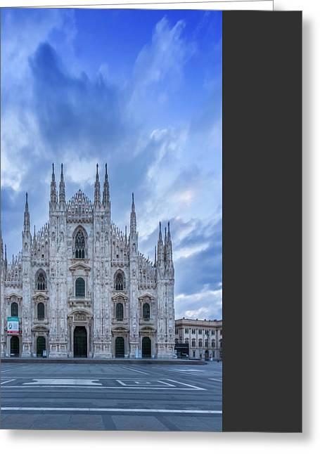 Milan Cathedral Santa Maria Nascente Greeting Card