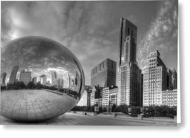 Millennium Park In Black And White Greeting Card
