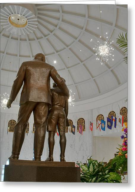 Milton Hershey And The Boy Greeting Card by Mark Dodd