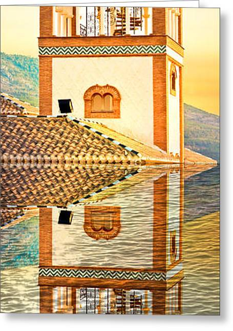 Minaret Greeting Card by Tom Gowanlock