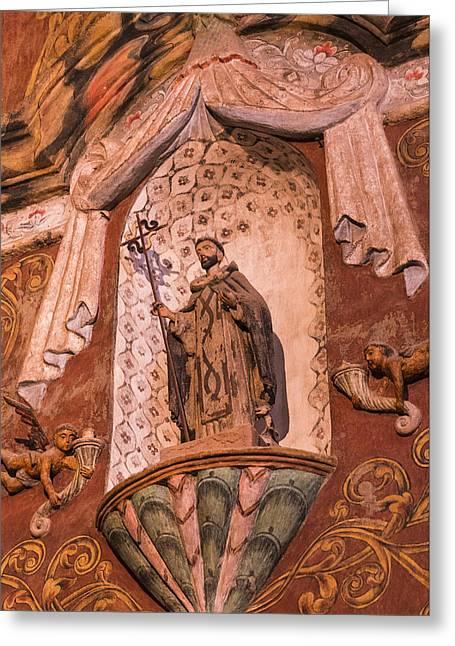 Mission San Xavier Del Bac - Interior Statue - Tucson Arizona Greeting Card