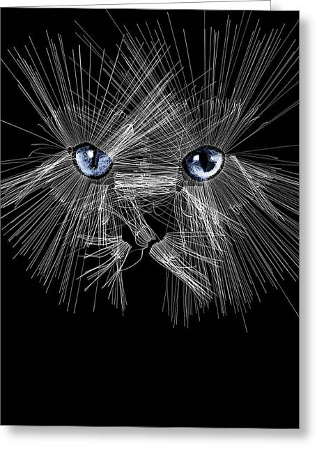 Mister Whiskers Greeting Card by ISAW Gallery