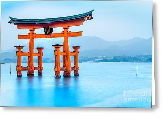 Miyajima Torii Gate - Japan Greeting Card