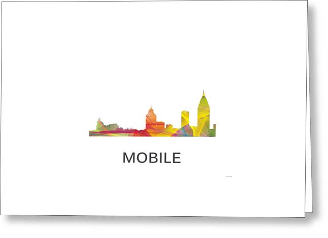 Mobile Alabama Skyline Greeting Card