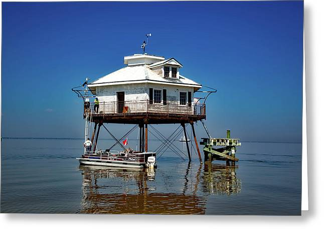 Mobile Bay Lighthouse Greeting Card