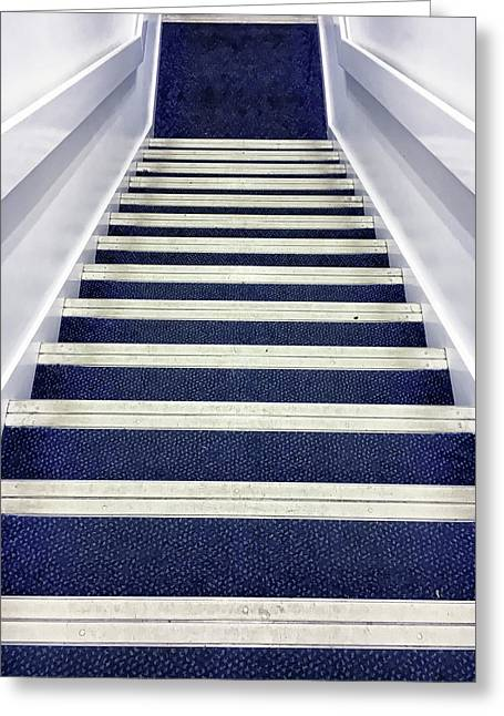Modern Interior Stairs Greeting Card