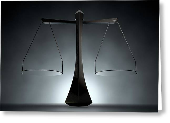 Modern Scales Of Justice Greeting Card