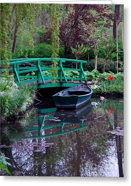 Monet Greeting Card by Nancy Bradley