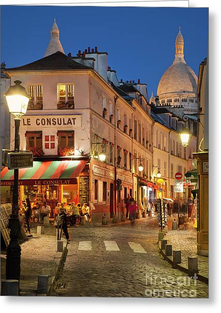 Montmartre Twilight Greeting Card