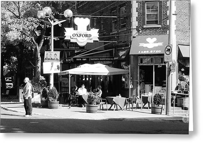 Montreal Street Photography Greeting Card by Reb Frost