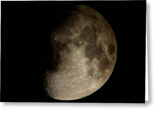 Moon Greeting Card by George Leask