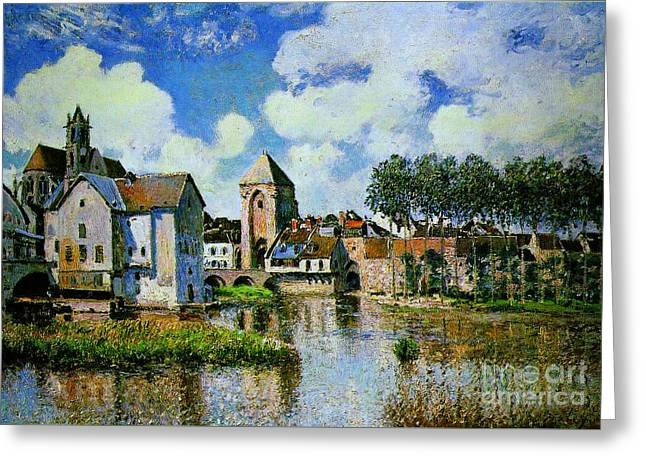 Moret-sur-loing Greeting Card by Celestial Images