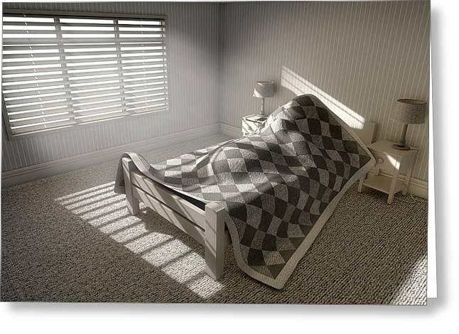 Morning Sleep In Greeting Card by Allan Swart