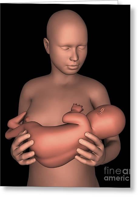 Mother Breastfeeding Baby Greeting Card