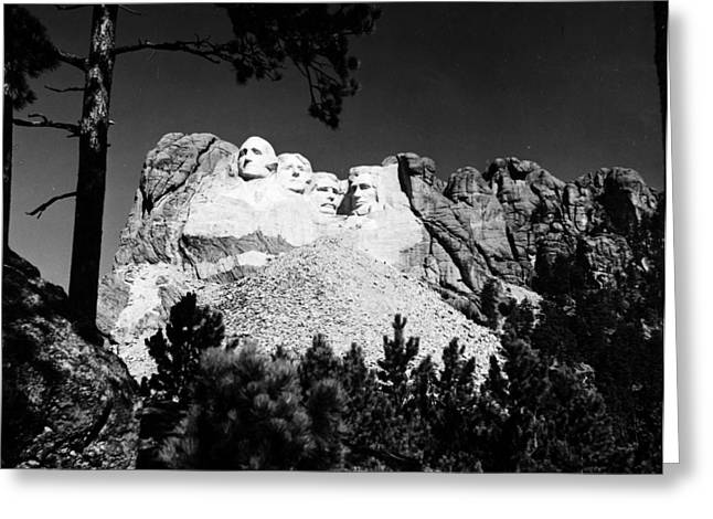 1930s Portraits Greeting Cards - Mount Rushmore Greeting Card by Granger