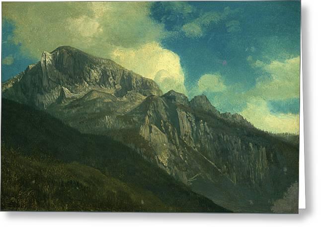 Mountains Greeting Card by Albert Bierstadt