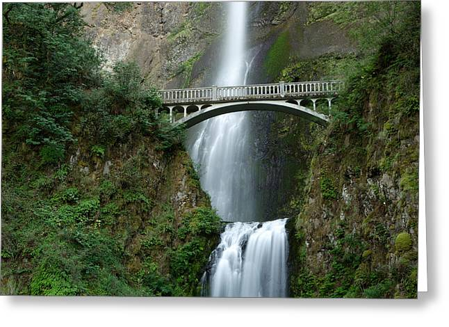 Multnomah Falls Greeting Card by Eric Foltz