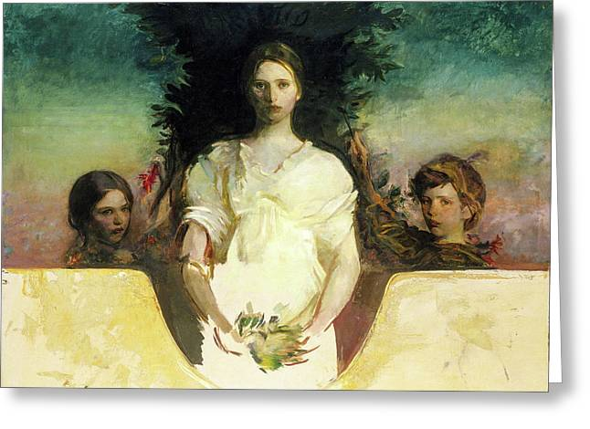 My Children Greeting Card by Abbott Handerson Thayer