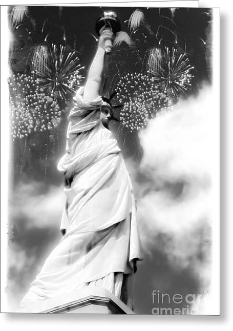 My Lady Liberty Greeting Card by Janie Johnson