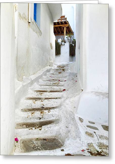 Mykonos Greeting Card by HD Connelly