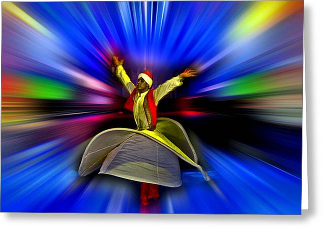 Mystical Dance Of The Dervish. Greeting Card by Andy Za