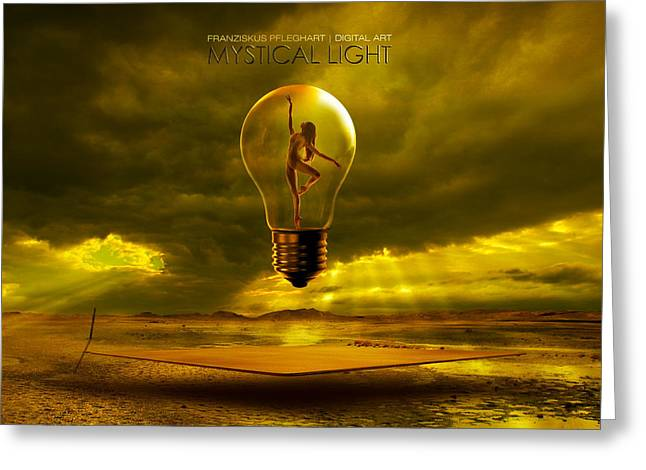 Mystical Light Greeting Card by Franziskus Pfleghart