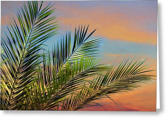 Naples Palms Greeting Card by Lori Deiter