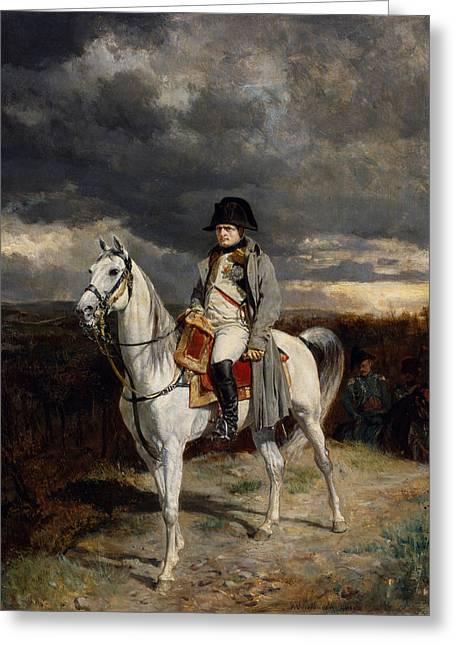 Napoleon Bonaparte On Horseback Greeting Card