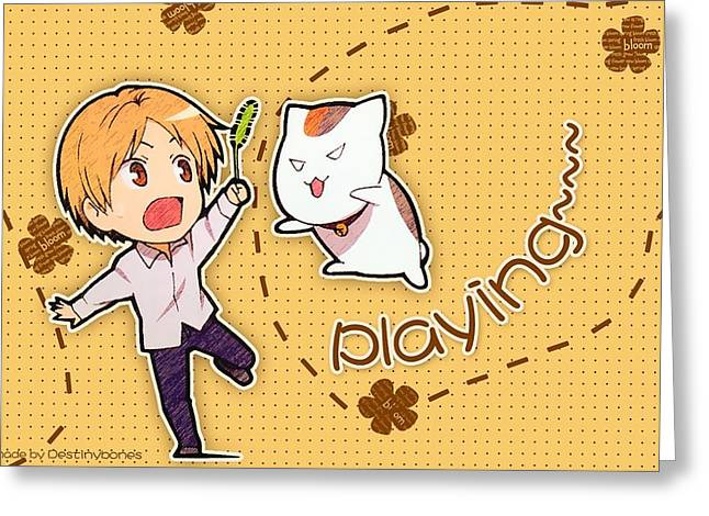 Natsume's Book Of Friends Greeting Card