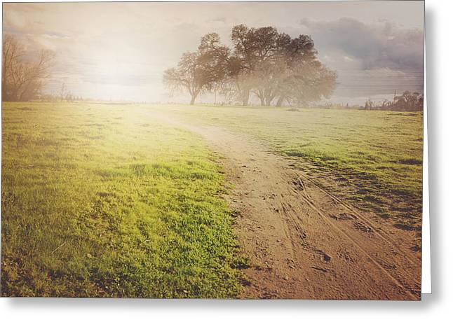 Nature Background With Vintage Style Background Greeting Card