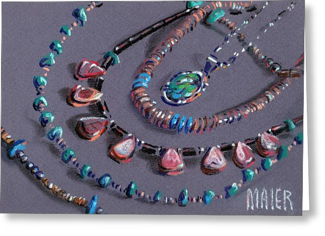 Navajo Jewelry Greeting Card by Donald Maier