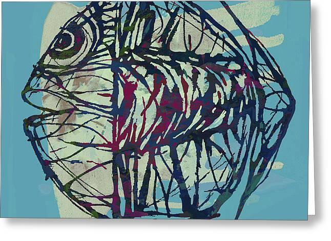 New Pop Art Tropical - Fish Poster Greeting Card